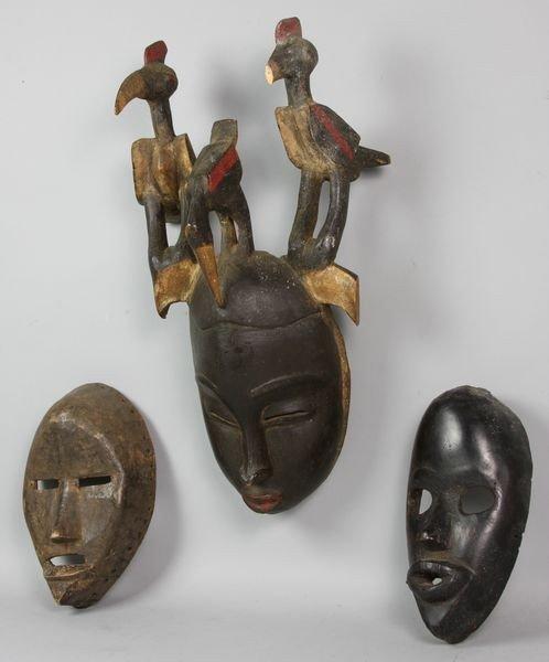 4015: Three (3) Ivory Coast Masks