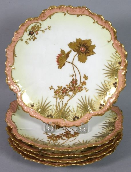 4022: Five (5) 19th C. French Limoges Plates