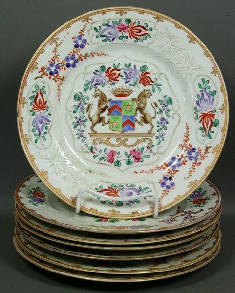 5005: Group of Seven (7) Samson Porcelain Dinner Plates