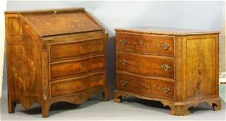 5211 Matched Two 2 Pieces 18th C Italian Fruitwood
