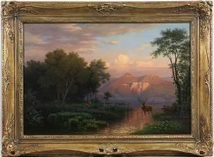 6109: Hermann Herzon, Rural Landscape, O/C