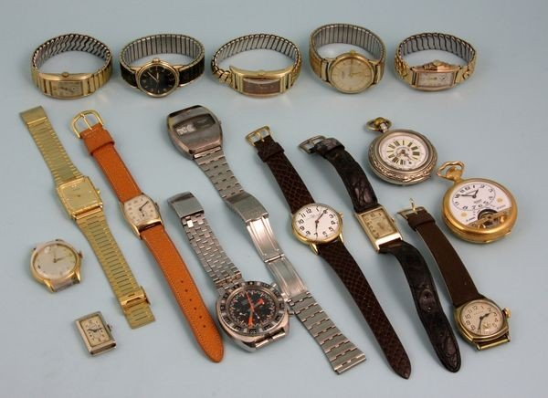 8245: Collection of 20th C. Pocket and Wrist Watches