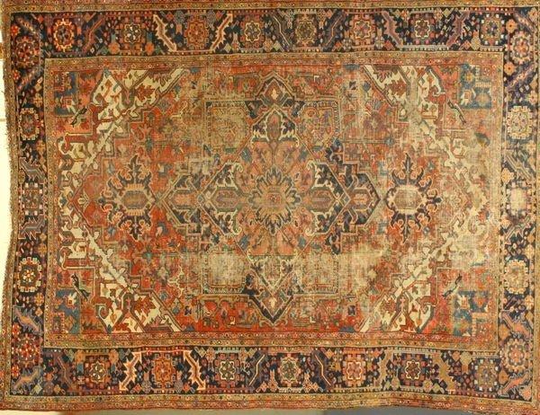 8010: Antique Persian Heriz Rug