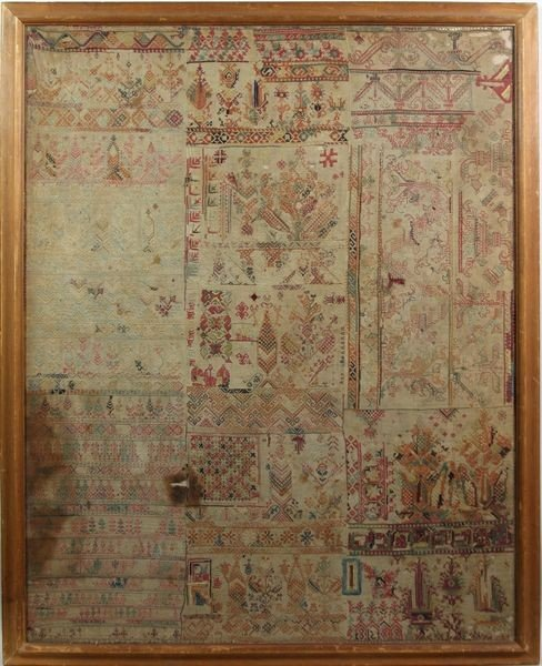 8011: 18th/Early 19th C. Framed Textile Fragment