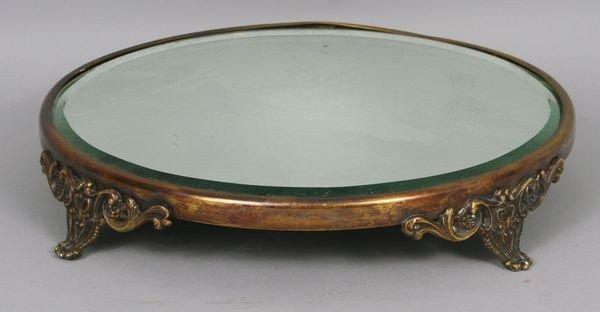 8009: 19th C. Royal Plateau Beveled Mirror