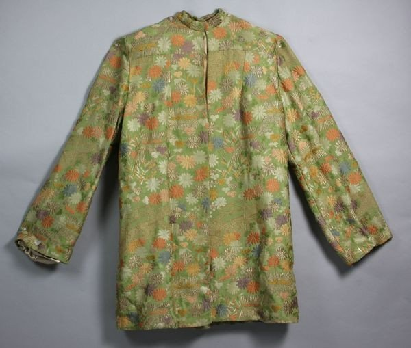 8010A: Early 20th C. Lady's Indian Silk Embroidered Coa