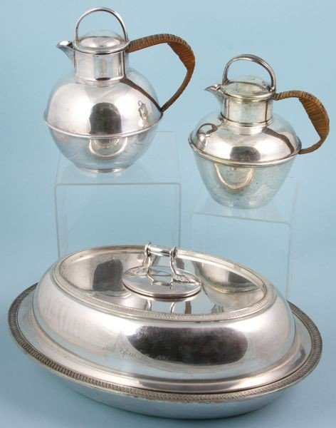 9008: Three (3) Piece Lot of Silver Plate Items