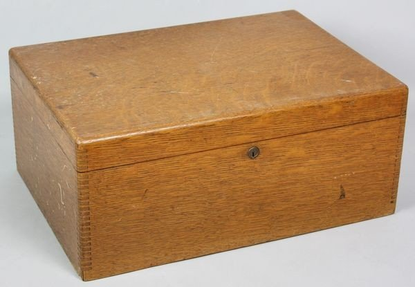 9024: Gorham Manufacturing Co. Figured Oak Silver Chest