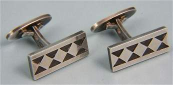 9174 Early Art Deco Georg Jensen Sterling Cuff Links