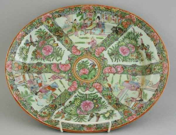 9017: Chinese Rose Medallion Platter
