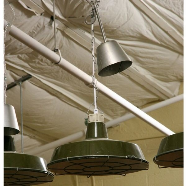 13: Five (5) Hanging Utility Lamps