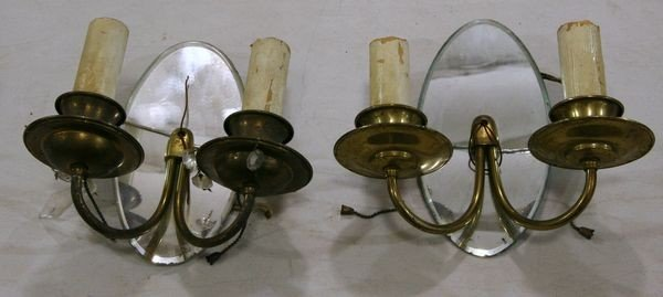 17: Pair of Two-Arm Sconces