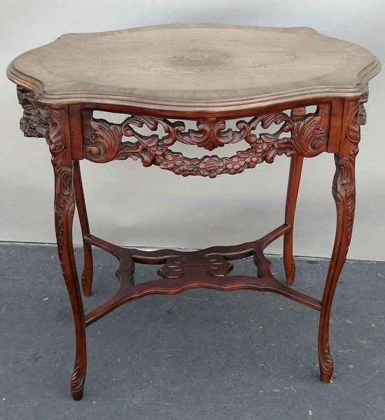 22: 20th C. Italian Carved Fruitwood Table