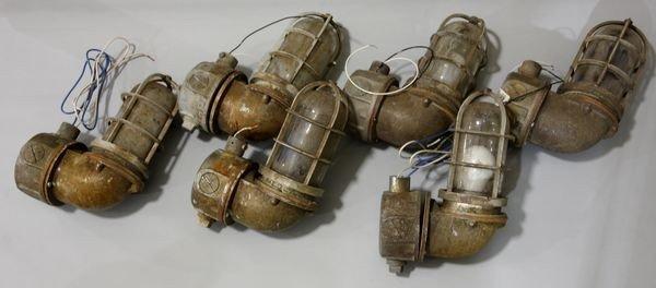 24: Six (6) Ship's Bulkhead Lamps