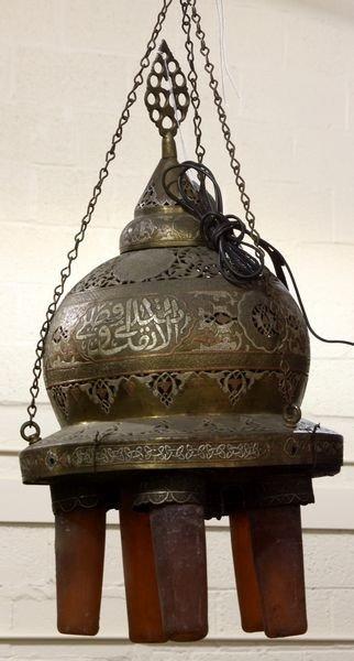 217: Moroccan Brass Chandelier