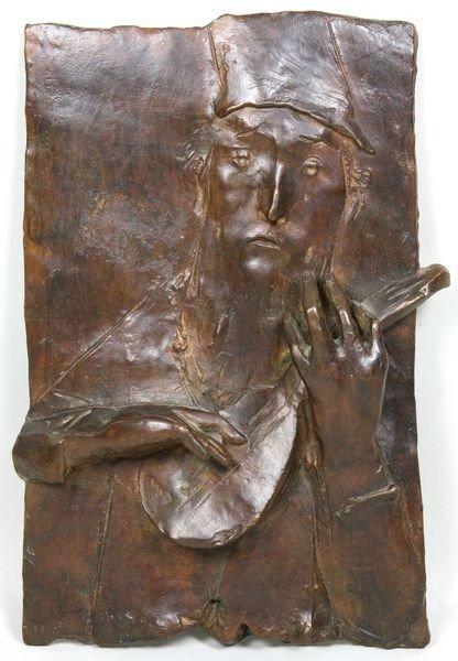 1151: David Aronson, Plaque of Man Playing Instrument