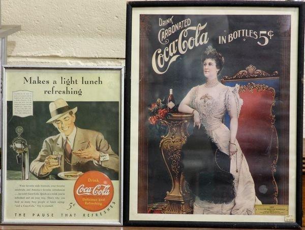4002: Two Coca-Cola Prints