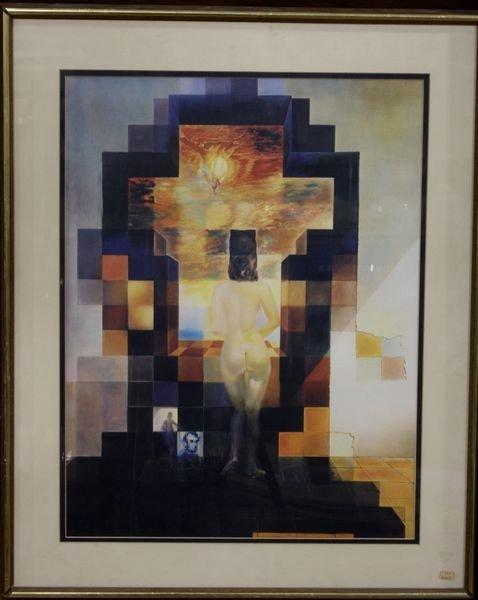 4023: Surreal Print of Nude Woman