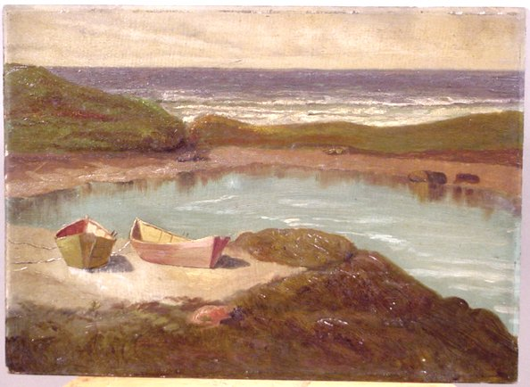 1004: EARLY 20TH CENTURY OIL SEASCAPE