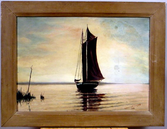 1009: SIGNED KATHERINE H. SHEPARD OIL ON CANVAS