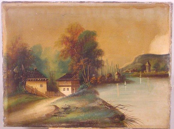 1015: LATE 19TH CENTURY DUTCH OIL ON CANVAS
