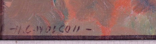 1149: SIGNED H.C.WOLCOTT NUDE PAINTING - 2