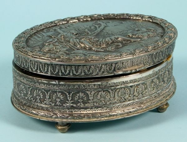 2009: Late 19th/Early 20th C. Silver Plated Jewelry Box