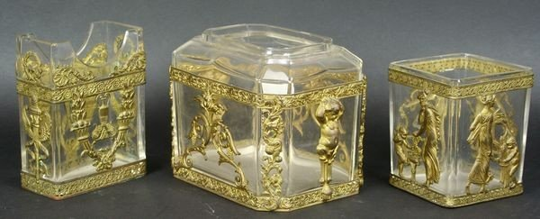 2020: Three (3) Late 19th C. French Empire Ormolu and B