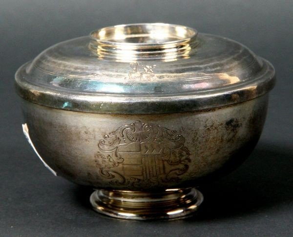 2085: English Silver Covered Bowl