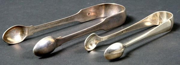 2024: Lot of Two (2) London Silver Sugar Tongs