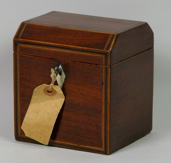 3012: English Mahogany Tea Caddy