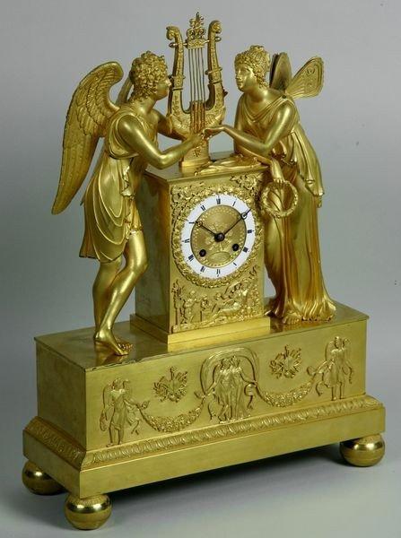 Very Fine French Empire Clock