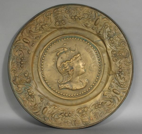 """Embossed Copper Charger of """"Minerve"""""""