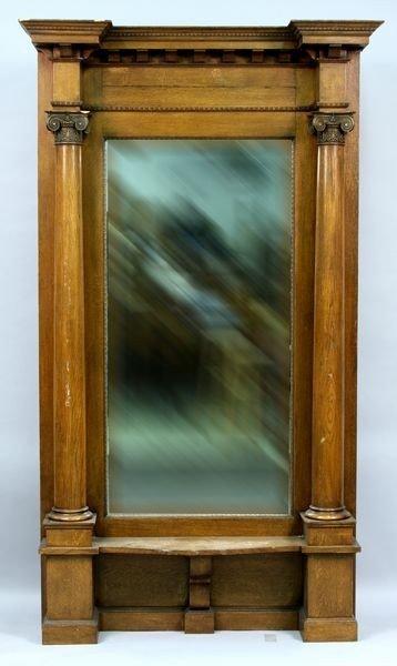 20th C. continental gilt wood mirror