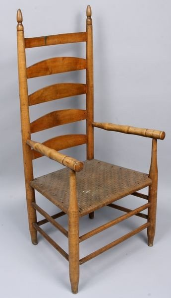 5001: Early 19th C. Country Rustic Arm Chair
