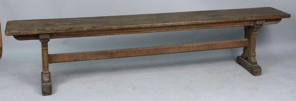 5017: 19th C. Oak Shoe Foot Bench