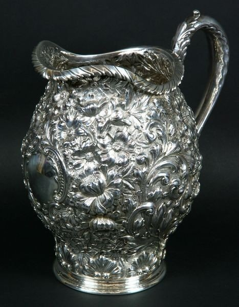 5101: Gorham Repousse Sterling Silver Pitcher