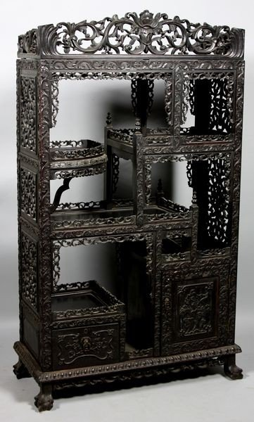 6004A: Carved Wood Cabinet
