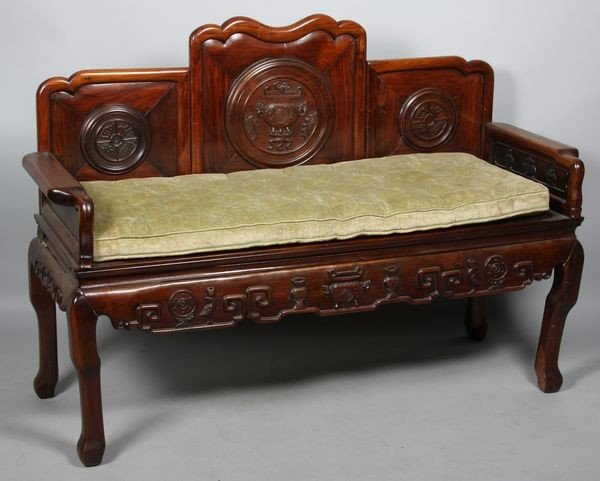 6007: Carved Wood Couch