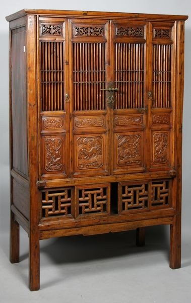 6007A: Carved Wood Cabinet