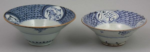 6008: Two Blue and White Porcelain Bowls