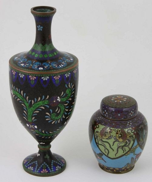 6009: Cloisonné Vase and Jar