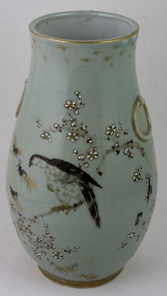 6012: Celadon and Famille Rose Vase