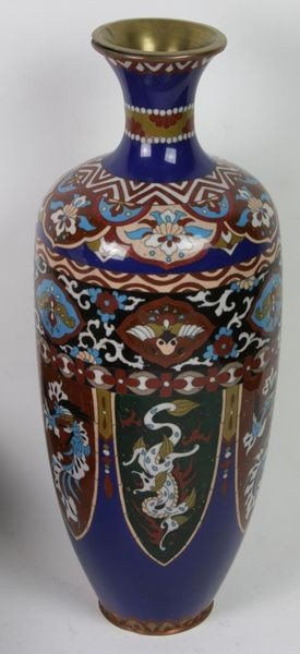 6013: Cloisonné Vase