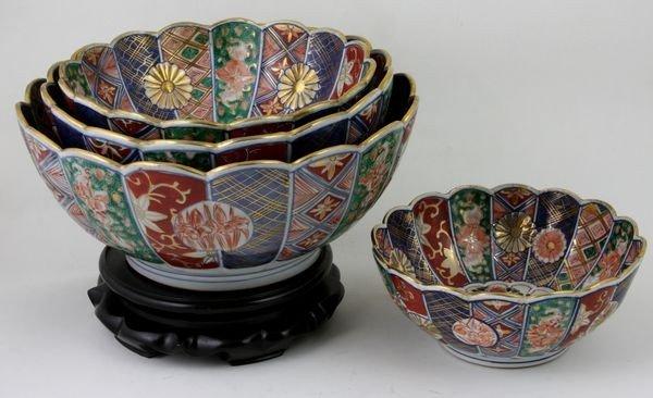 6020: Group of Four Imari Porcelain Bowls