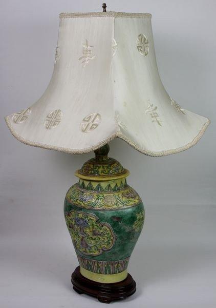 6023: Famille Rose Vase Lamp