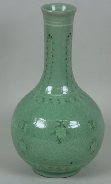 7002: Celadon Glazed Jar