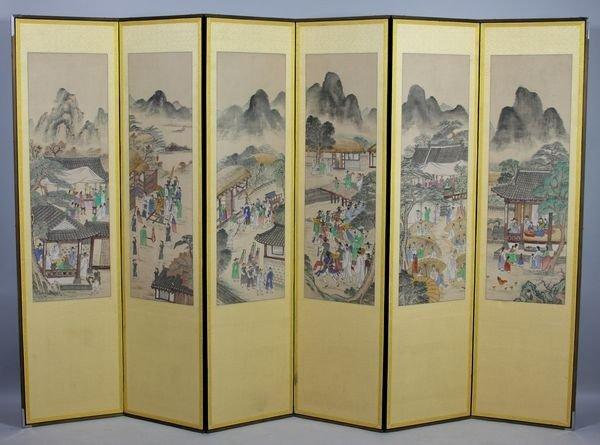 7007: Six-Panel Folding Screen