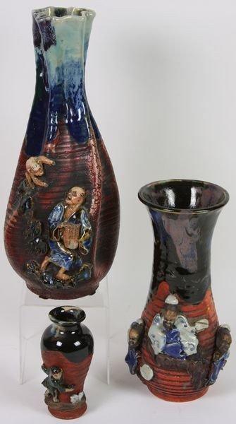 7008: Three Satsuma Vases