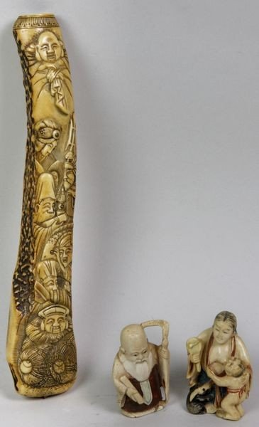 7019: Three Ivory Items